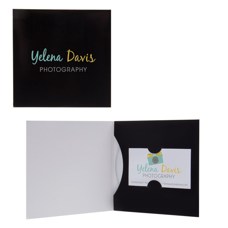 Paper CD/DVD Business Card Folio | VRN-107-177