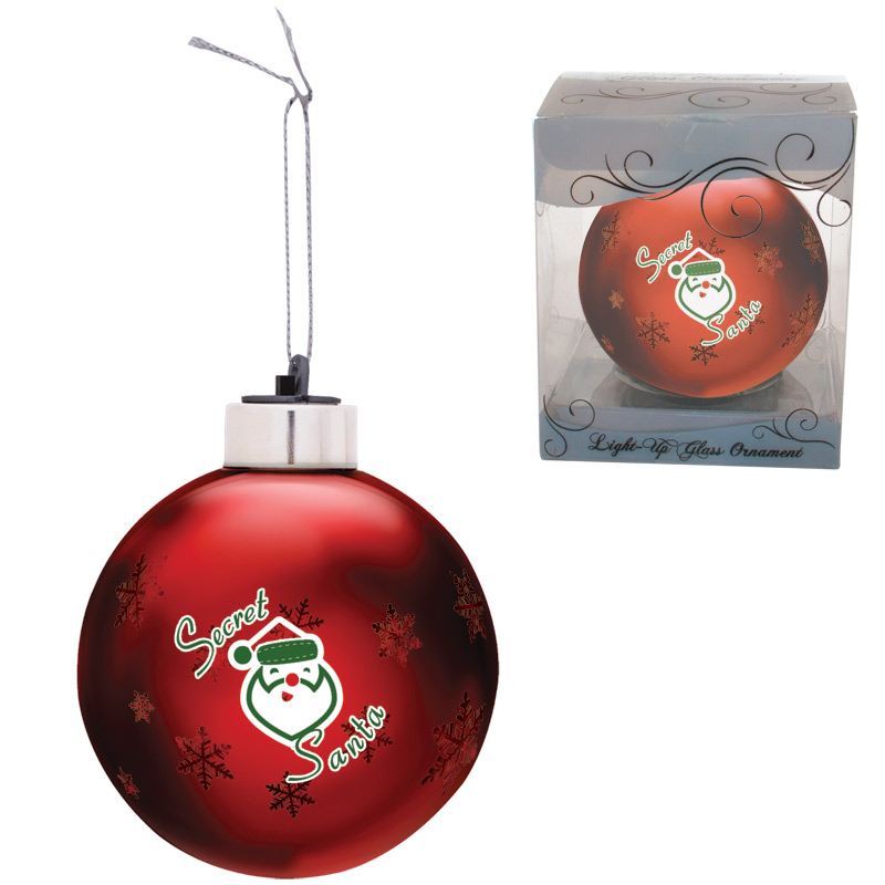 Light-Up Glass Ornament