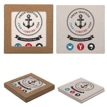 Square Two Coaster Set