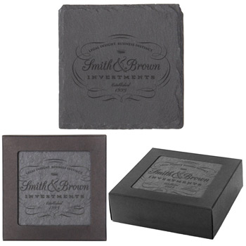 Square Slate Coaster Set