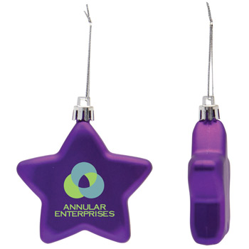 Shatter Resistant Flat Star Ornament