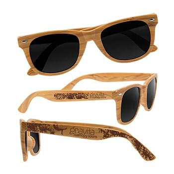 Wood Grain Design Sunglasses