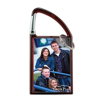 Carabiner Snap-In Photo Keytag