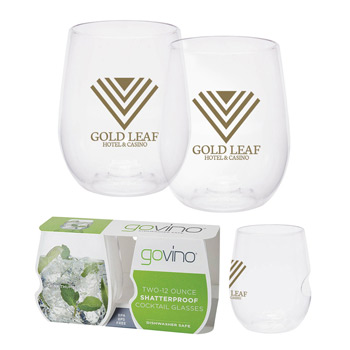 Dishwasher Safe Govino® 12oz Wine/Cocktail Glass 2 Pack