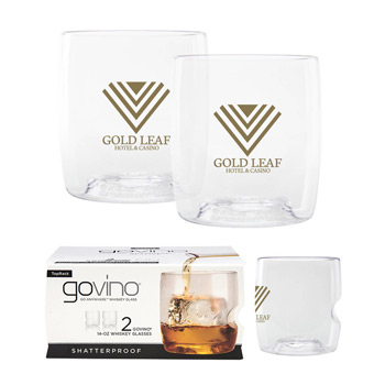 Dishwasher Safe Govino® 14oz Whiskey Glass 2 Pack