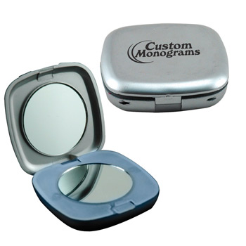 Illuminated Square Compact Mirror