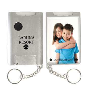 Flashlight Snap-In Photo Keytag